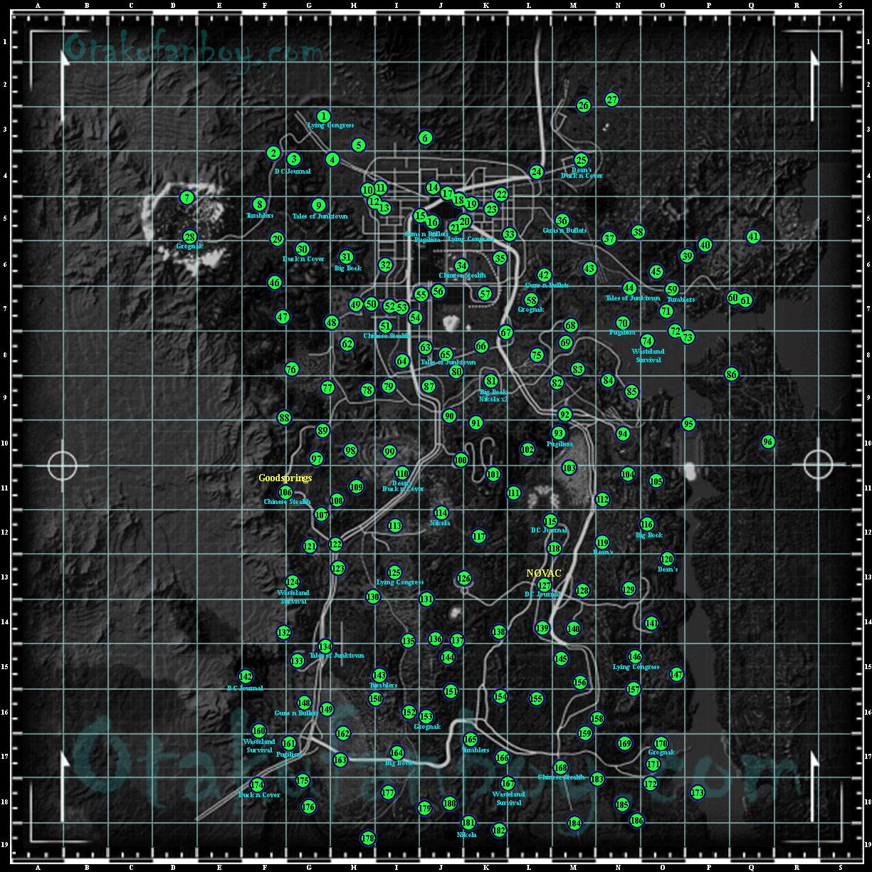 Fallout New Vegas Map - Otaku Fanboy Image Gallery