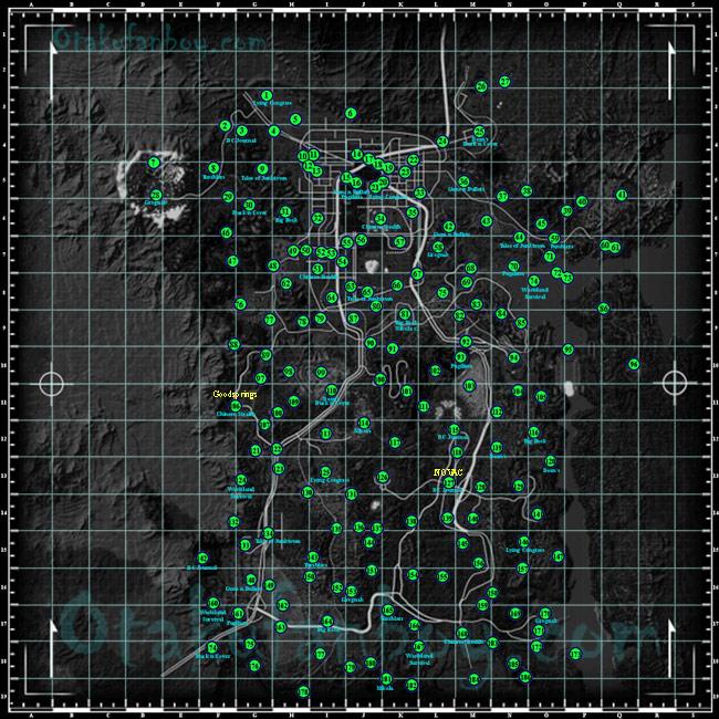 Fallout 3 New Vegas Map Printable